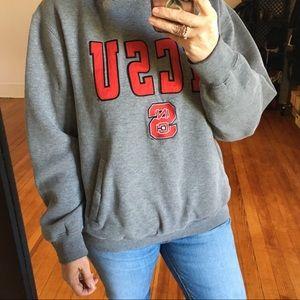 NCSU College Sweatshirt Hoodie Gray Ted Letters